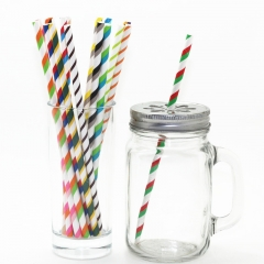 Double Striped Paper Straws Wholesale  11 colours