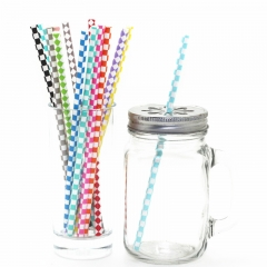 Harlequin Diamond Paper Straws Wholesale  12 colours