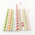Customized Paper Straws DIA. 5mm 6mm 8mm 10mm Individual Package  Fixed Logo and designs