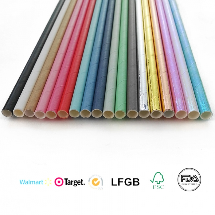 Biodegradable Disposable Eco-friendly Paper Straws