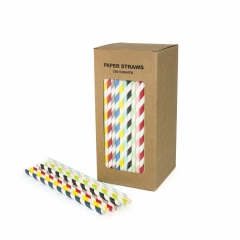 Foil Iridescent paper straws wholesale
